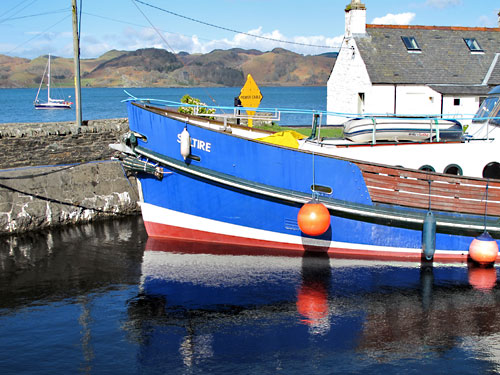 View over the basin at the Crinan Canal